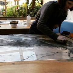 Carborundum plate #artprintresidence #carborundum #plastic