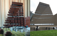 LEGO Tate Modern Switch House (caperberry.tj) Tags: afol lego moc tate modern tatemodern art gallery london southbank south bank famous landmark scale model microscale architecture switch house tower pyramid sightseeing