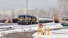 CP 640? tied down in the North Yard (BuffaloRailfan30) Tags: cheektowaga buffalo ny trains snow cp 640 ice dme sd402 frontier yard