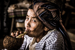 Myanmar (ravalli1) Tags: myanmar bagan people woman old traditional portrait dailylife burma ritratto birmania smoking nikon7100