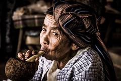 Myanmar (ravalli1) Tags: myanmar bagan people woman old traditional portrait dailylife burma ritratto birmania smoking nikon7100