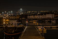 The quiet hour..... (Dafydd Penguin) Tags: night shot after dark lights city urban docks harbour harbor port boat water calm tripod long exposure slow shutter speed bristol vessel interesting explore nikon df nikkor 50mm af f14d
