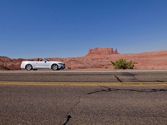Mustang (•Nicolas•) Tags: ford mustang usa america amérique desert road route montagne mountains holidays vacances nicolasthomas