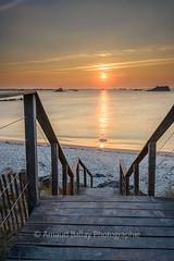 Perharidy (http://arnaudballay.wix.com/photographie) Tags: 2016 nikond610 roscoff bretagne france fr escalier plage stair sun sunset beach finistere santec iledebatz