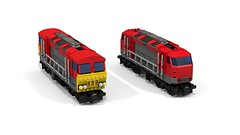 Comparison (JSDBanner) Tags: lego train modification instructions diesel white background brclass66 60098