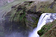A queda da gua!! (puri_) Tags: cascata gua salpicos monte relva pssaros espuma picmonkey cascatadeskgafoss
