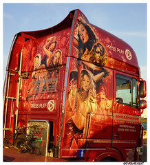 Take it easy.... (The Landscape Motorcyclist) Tags: truck artwork airbrush scania daf volvo mercedes music