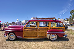 Woodies at the Beach (dmentd) Tags: wagon deluxe woody desoto 1949 woodie