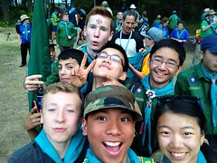 Scouts having fun