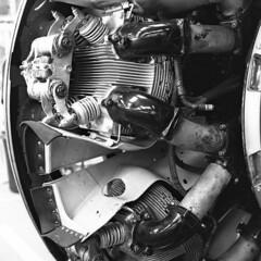 R for Robert, Engine (simon_c_taylor) Tags: 6x6 aircraft engine bronica sqa brooklands techpan technicalpan zenzanon rforrobert