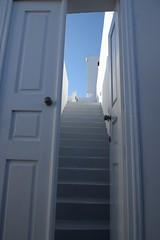 (Giramund) Tags: door sky white stairs santorini greekislands oia