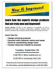 TOMORROW at 2pm and 6pm at Louisiana Tech - a great presentation from Dallas superstar Jeremy Johnson on user-focused product design. You don't want to miss this!