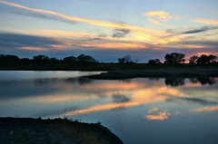Finally (Jayhawk Explorer) Tags: light sunset sky nature colors lawrence ks wetlands kansas boardwalk favoriteplace douglascounty bakerwetlands awesomesky mysanctuary smartphotoeditor