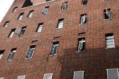 Ziegelsteinmauer (nadinetruyol) Tags: brick london window wall outdoor fenster muster mauer ziegel