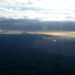 View south, approaching Caernarfon