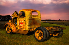Joe Blo (SydneyLens) Tags: sunset composite truck rat au sydney australia hotrod newsouthwales hdr ratrod hdrphotography tarenpoint