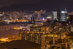 Devil's Peak, Hong Kong (mikemikecat) Tags: people clouds landscape twilight nightscape sony devils cityscapes peak nightview         victoriaharbour  kowloonbay      cityjungle a7r    mikemikecat