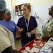 Nurse Hedda and the triage team at Connaught Hospital, Freetown, Sierra Leone