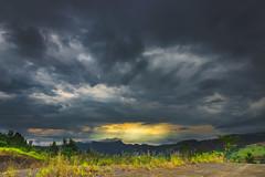 Pimenta (Diego S. Mondini) Tags: travel trees light sunset brazil sky mountain mountains green beautiful brasil clouds forest landscape sunbeams