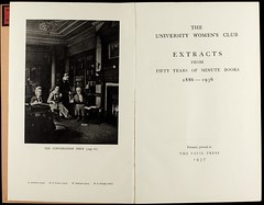 University Club for Ladies minute book extracts1937