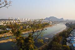 Lijiang, View from Elephant Trunk Hill, Guilin (RH&XL) Tags: elephant trunk hill guilin 桂林 广西 guangxi china lijiang overlook river