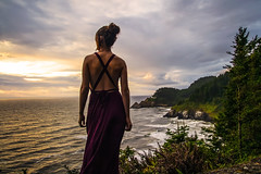Better Nature (West Leigh) Tags: ocean travel sunset sea woman nature oregon landscape peace dress dream wanderlust explore experience pacificnorthwest wander discover travelphotography hecetaheadlighthouse wandress