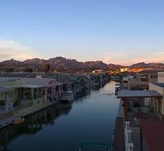 View from the Roof Deck (Ms. Jen) Tags: sunset arizona view desert coloradoriver parker goldenhour fingerrock lumia photobyjeniferhanen lumia1020 nokialumia1020 moovalyakeys