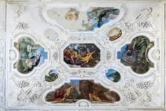 Il soffitto della sala delle cacce infernali