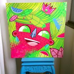 Princesa Melancia (Yong Attack) Tags: streetart art arquitetura graffiti artwork artist gallery fineart melancia canvas urbanart spraypaint decor decorao interiordesign brasilia watermellon yong designdeinteriores yongattack