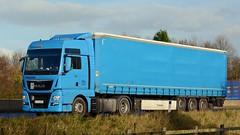 LJ TI-613 (panmanstan) Tags: man truck wagon motorway yorkshire transport international lorry commercial newport vehicle freight m62 haulage hgv tgx curtainsider