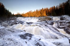 fire and ice / sand river waterfall (twurdemann) Tags: autumn winter sunset snow ontario canada cold ice nature water landscape waterfall whitewater hiking scenic spray wilderness lakesuperior sandriver northernontario canadianshield lakesuperiorprovincialpark ontarioparks nikcolorefex pinguisibitrail algomadistrict iceencrusted procontrast 09ndhardgrad detailextractor gnd3h xf1855mm leeseven5 fujixt1 fall2015 nikgraduatednd