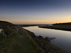 to the sea (Andy Hemper) Tags: uk river landscape evening unitedkingdom dusk country footpath eastsussex sevensisterscountrypark