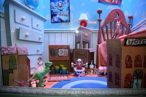 disneyland visit christmas day 2015 main street emporium disney movie dioramas toy - Toy Story Christmas Movie