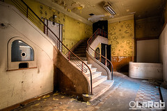 1 ticket please (LaR0b) Tags: ue urbex urban exploration exploring decay abandoned lar0b lost hdr highdynamicrange cinema theatre rex stair ticket movie