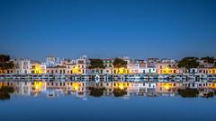 Revive (rgcxyz35) Tags: morning blue portocolom spain water reflections balearicislands mallorca island buildings sunrise boats longexposure harbour mediterranean