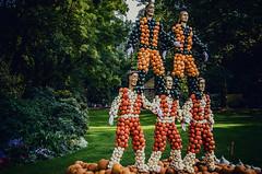 Siblings (Melissa Maples) Tags: ludwigsburg germany europe nikon d5100   nikkor afs 18200mm f3556g 18200mmf3556g vr residenzschloss palace blhendesbarock garden summer krbisausstellung pumpkins pumpkin festival sculpture art circus pyramid acrobats