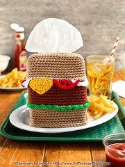 Burger Tissue Box (Bitter-Sweet-) Tags: crochet handmade homemade yarn burger food playfood tissues home housewares whimsy