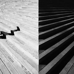 BnF Bibliothque Nationale de France, Paris Architect: Dominique Perreault (WhataWonderfullWorld!) Tags: bw cedar bnf paris stairs