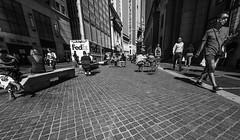 Follow the money (C@mera M@n) Tags: blackandwhite city citylife manhattan monochrome ny nyc newyork newyorkcity newyorkphotography places sidewalk urban wideangle lowangle outdoors urbanlife