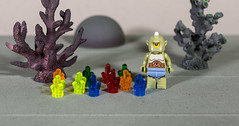 The Cyclops has found another field of power crystals (Busted.Knuckles) Tags: home toys lego minifigures cyclops powercrystals pentaxk3