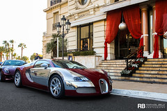 Bugatti Veyron Centenaire Edition (Achille Varzi) (Raphal Belly Photography) Tags: rb raphal monaco principality principaut mc montecarlo monte 98000 carlo hotel de paris french riviera south france luxury supercar supercars spotting car cars voiture automobile raphael belly canon eos 7d photographie photography casino bugatti veyron centenaire edition achille varzi red chromed chrome eb 164 16 4 w16 w centenary coupe rouge rosso rossa argent