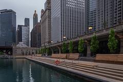 Chicago Riverwalk (urbsinhorto1837) Tags: aquatower carbidecarbonbuilding chicago chicagoriver riverwalk skyline city urban outdoors overcast water