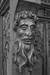 Green Man St Mary's Church Burwell Cambridgeshire 2016 (Simon Ross Photos) Tags: greenman woodcarving stmaryschurch burwell cambridgeshire olympusxz1 2016