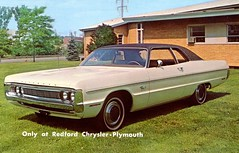 1970 Plymouth Fury Gran Coupe (aldenjewell) Tags: 1970 plymouth fury gran coupe redford chryslerplymouth detroit michigan postcard