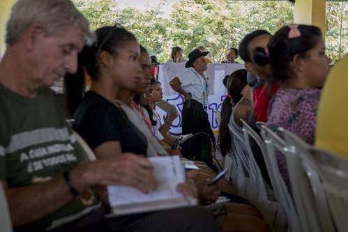 Auditório de reuniões da Caravana em Defesa do Rio Tapajós.