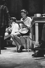 The Kitchen by Arnold Wesker (Francesca Agostini) (Federico Pitto) Tags: bw nikonfe2 d76 teatrostabilegenova genova trix theatre nikkor35mm28