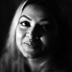 Meem again ! (N A Y E E M) Tags: muhsina mohsina meem friendswife portrait midnight baikalbar chittagong bangladesh availablelight indoors square cropped