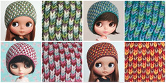 mosaik (*KaChu*) Tags: mosaic hats mosaik mtze blythe stricken gestrickt herbst warm haube helmet doll puppe