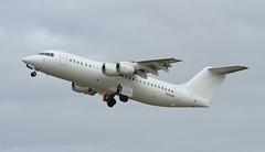VH-NJH (zeek_xvs1100) Tags: vhnjh cobham aviation avro regional jet rj100 departing southend airport egmc jte5515 runway 23 short hop cranfield