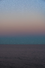 StarRise (LexSwamp) Tags: stars sunset sweden sea seaside ocean cloud pink orange red yellow blue night moon waves landscape colours outdoor surreal abstract